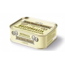 trozos de atún rojo (buzzonaglia) en aceite de girasol 340 g Campisi Conserve - 1