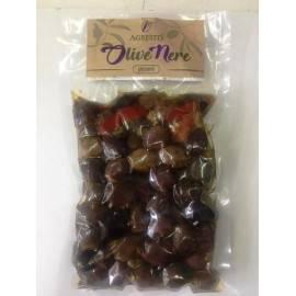 würzige schwarze Oliven der sizilianischen Buccheri 300 g Agrestis - 1