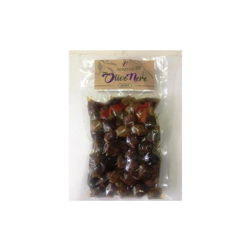 black spicy sicilian olives from buccheri 300 g Agrestis - 1
