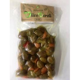 green spicy sicilian olives from buccheri 300 g Agrestis - 1