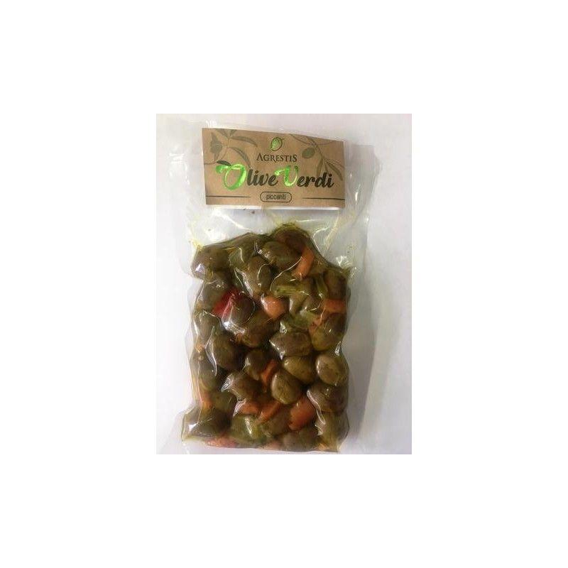 green spicy sicilian olives from buccheri 300 g Agrestis - 1