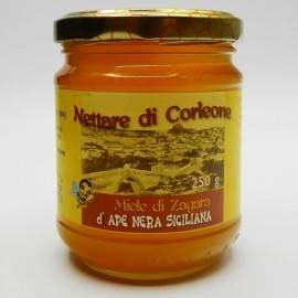 Sicilian black bee orange blossom honey from corleone 250 g Comajanni Giuseppe - 1