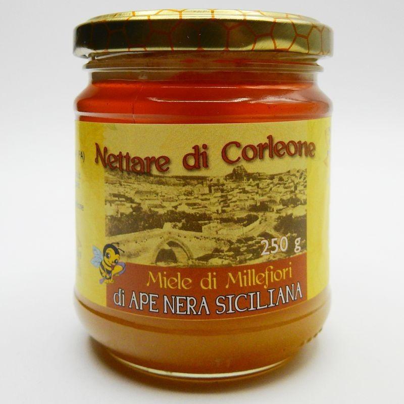 schwarze Biene Millefiori Honig Corleone sicula 250 g Comajanni Giuseppe - 1