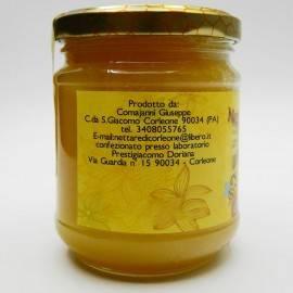 miel de sur le sicula d'abeille noir de corleone 250 g Comajanni Giuseppe - 2