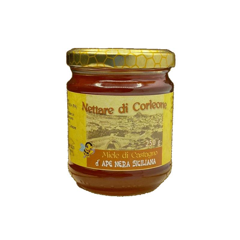 Miel de châtaigne d'abeille noire Corleone Sicula 250 G Comajanni Giuseppe - 1