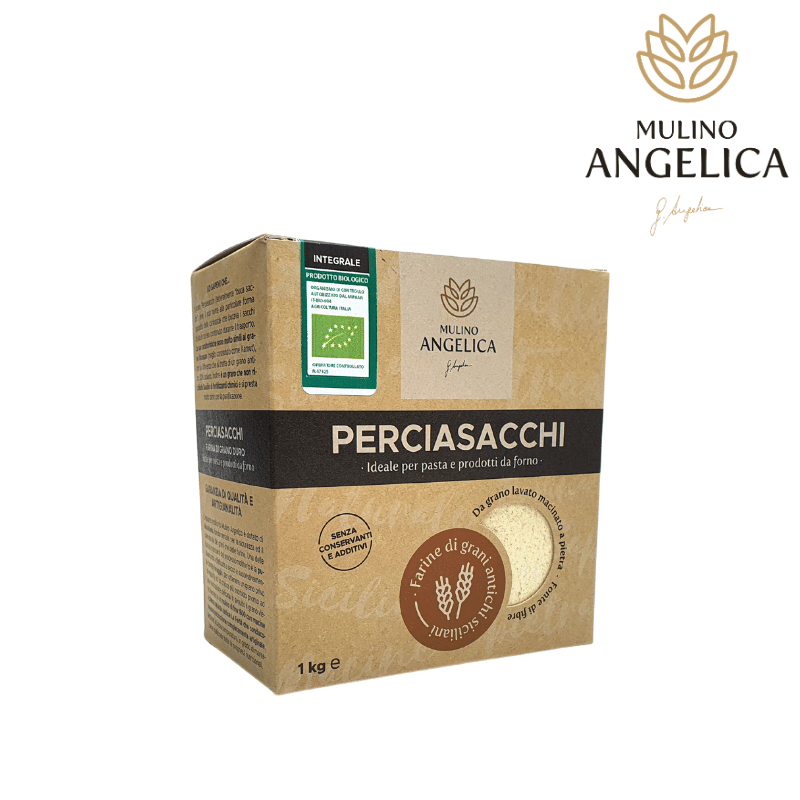 Harina de trigo integral perciasacchi orgánico 1kg Mulino Angelica - 1