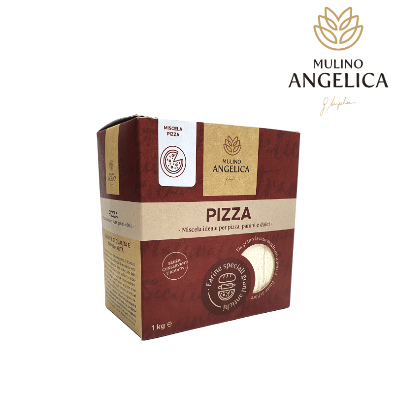 Ancient Sicilian Grains Pizza Flour 1kg Mulino Angelica - 1