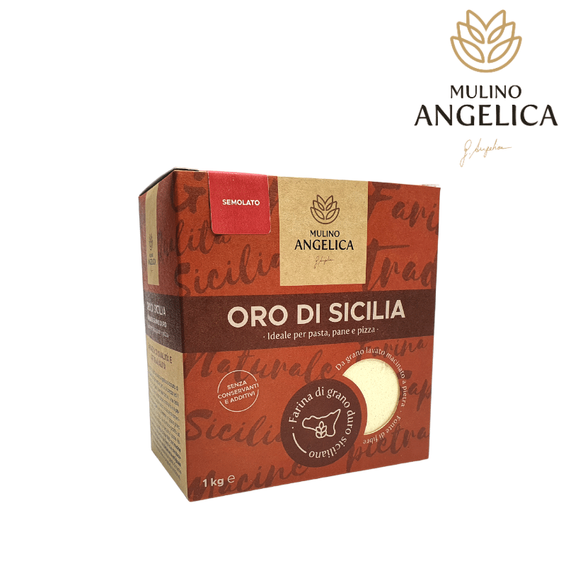 セモラト・オロ・ディ・シチーリア 1kg Mulino Angelica - 1
