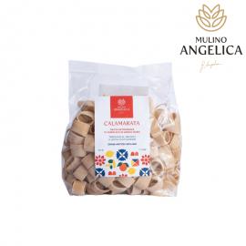 Calamarata Durum Wheat Semolina Pasta 500g Mulino Angelica - 1