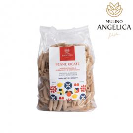 デュラムウィートセモラパスタ - ペンネ500g Mulino Angelica - 1