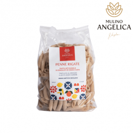Penne Pasta Made with Durum Wheat Mulino Angelica - 1