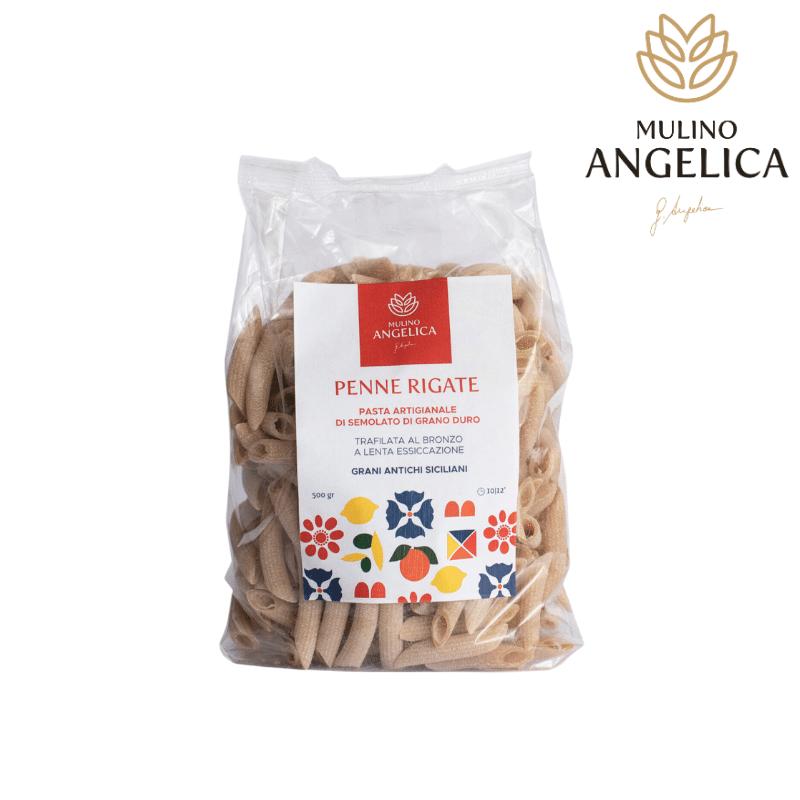 Penne Pasta Made with Durum Wheat Mulino Angelica - 1