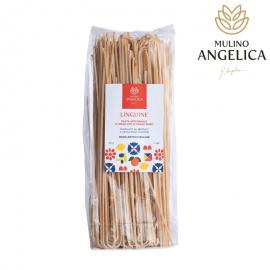 Pasta de Semolina de Trigo Durum - Linguine 500g Mulino Angelica - 1