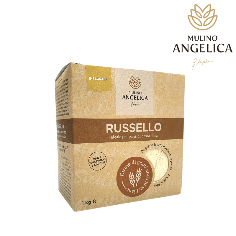 Sicilian Whole Wheat Flour Rusello Type 1kg Mulino Angelica - 1
