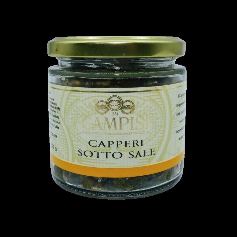 alcaparras de sal 150 g Campisi Conserve - 1