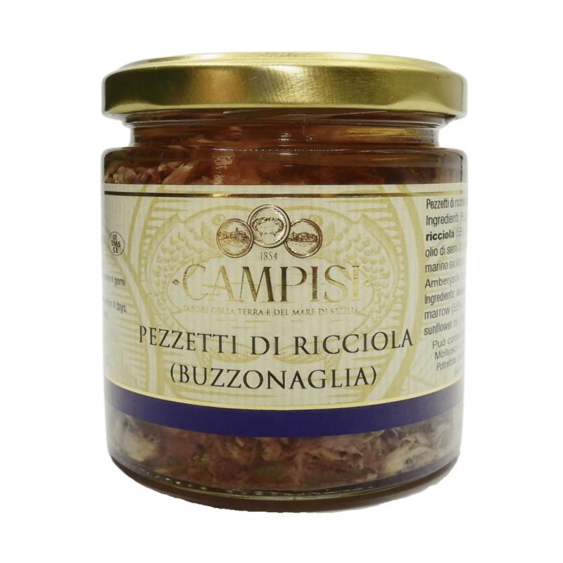 pezzetti di ricciola (buzzonaglia) 220 g Campisi Conserve - 1
