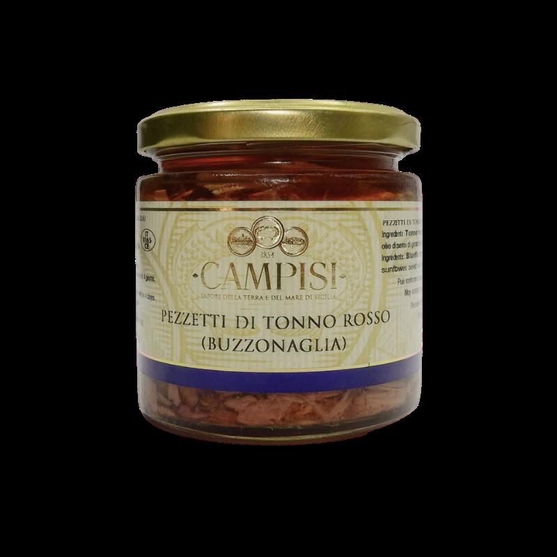 pezzetti di tonno rosso(buzzonaglia) 220 g Campisi Conserve - 1
