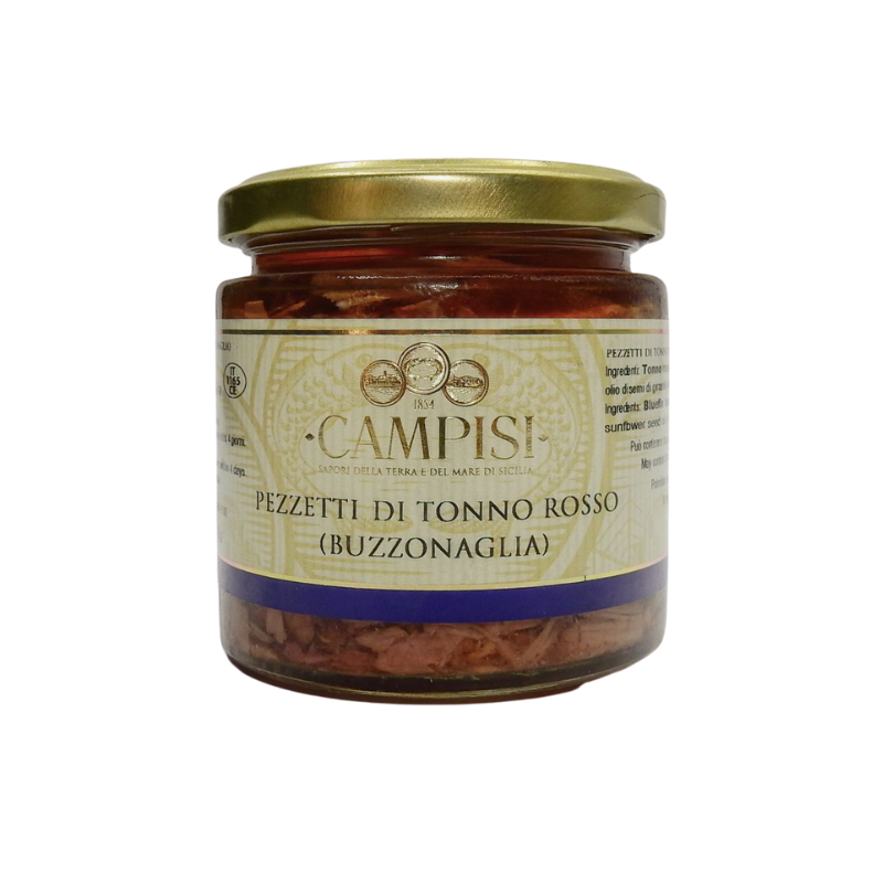 trozos de atún rojo (buzzonaglia) 220 g Campisi Conserve - 1