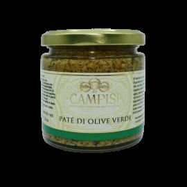 зеленый оливковый паштет 220 г Campisi Conserve - 1