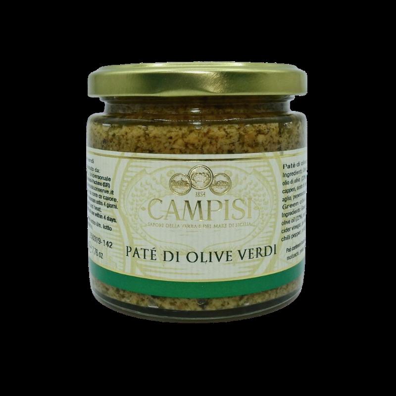 patê de azeitona verde 220 g Campisi Conserve - 1