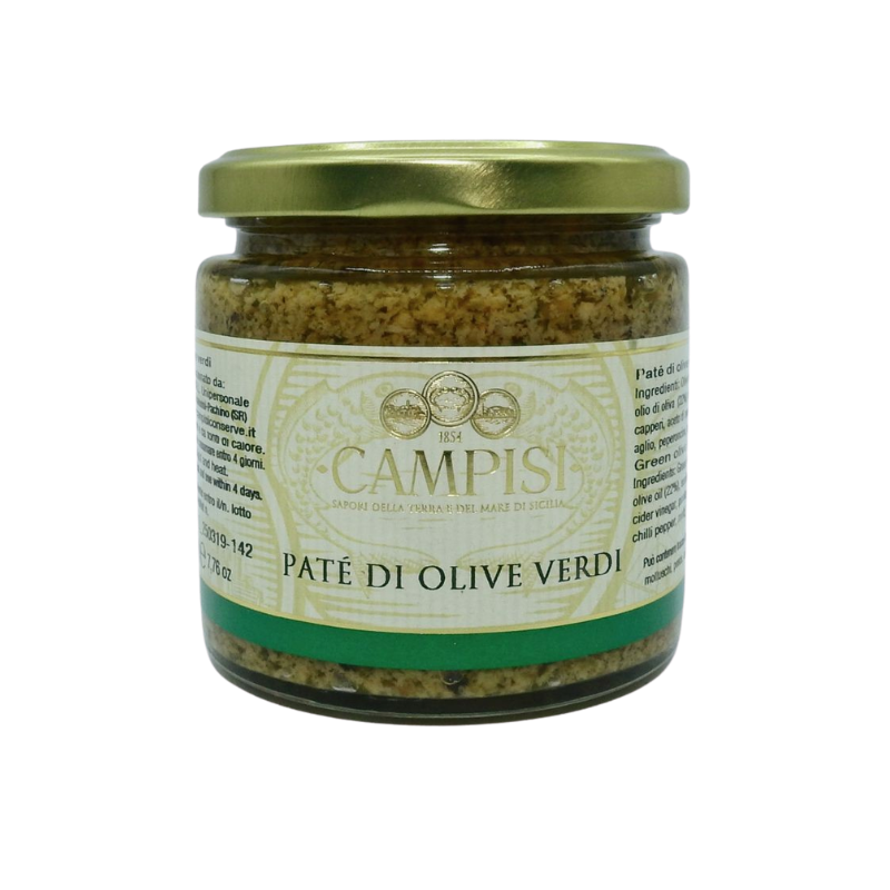 green olive pate' 220 g Campisi Conserve - 1