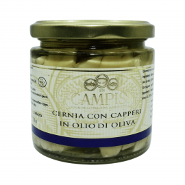 garoupeta com alcaparras 220 g Campisi Conserve - 1
