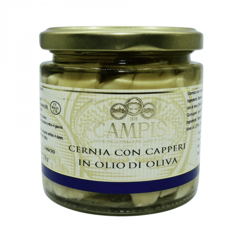 grouper с каперсами 220 г Campisi Conserve - 1