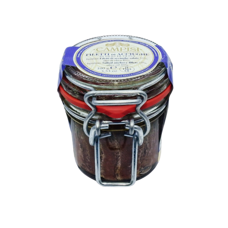 anchovy fillets in air tight jar Campisi Conserve