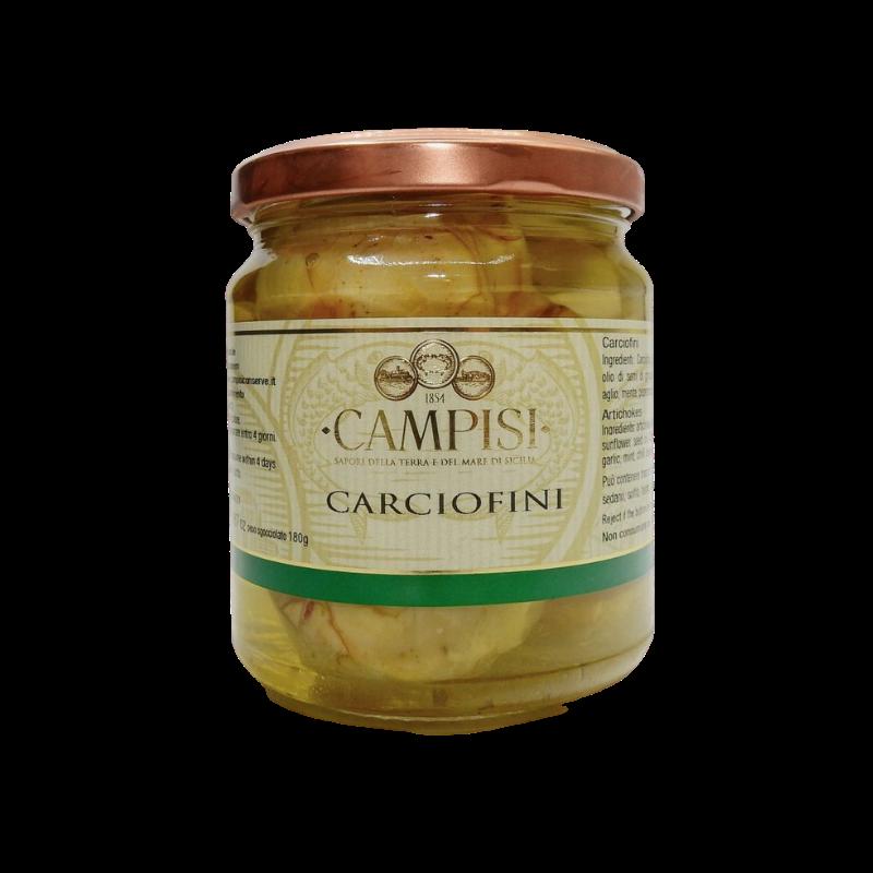 alcachofras em óleo 280 g Campisi Conserve - 1