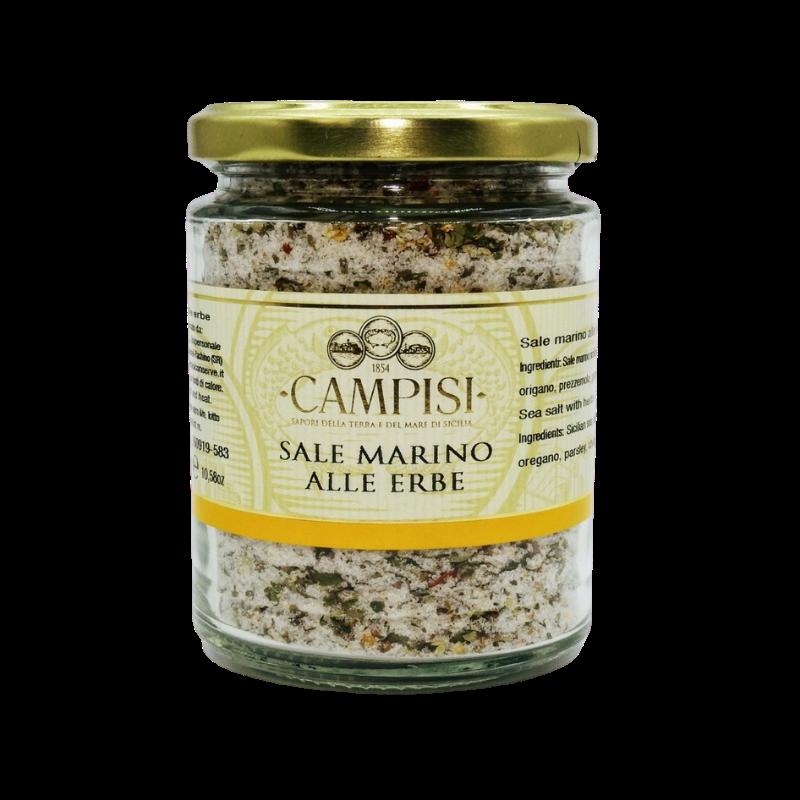 sel de mer avec pot d'herbes 300 g Campisi Conserve - 1