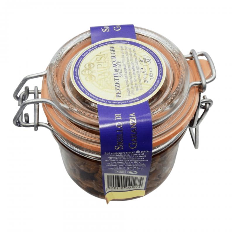 pezzetti di acciughe speziate 200 g Campisi Conserve - 1