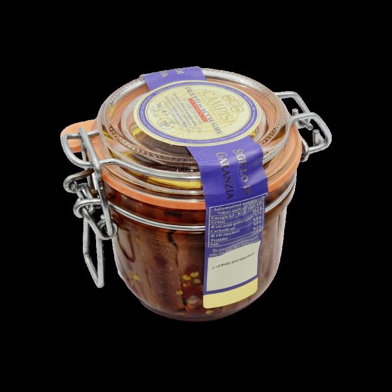 filets d'anchois supplémentaires avec piment vase erm. Campisi Conserve - 1