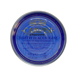 anchovy fillets with chilli pepper in tin 500 g Campisi Conserve - 1