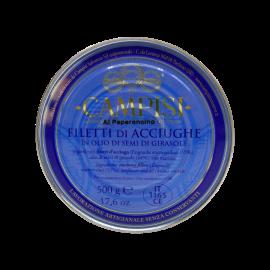 filets d'anchois avec piment d'étain g 500 Campisi Conserve - 1