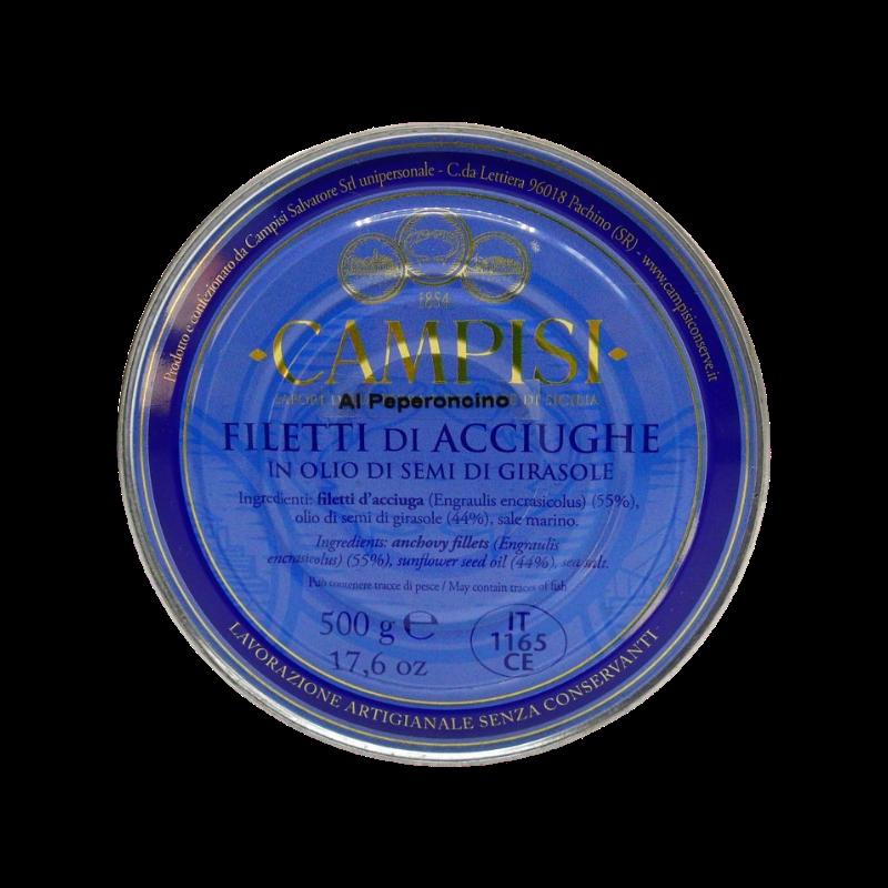 filetes de anchoa con chile de hojalata g 500 Campisi Conserve - 1