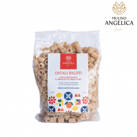 Hartweizen Semolato Pasta Ditali Rigati 500g Mulino Angelica - 1