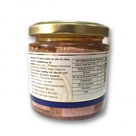 Ventre de thon rouge à l'huile d'olive 220g Campisi Conserve - 3