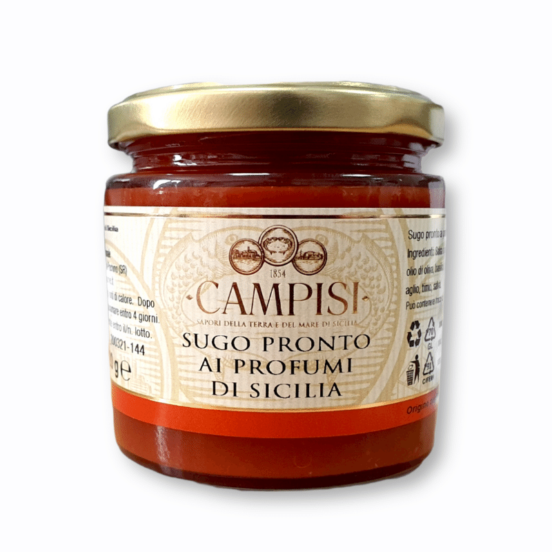 Flavours of Sicily Ready-Made Tomato Sauce 220g Campisi Conserve - 1