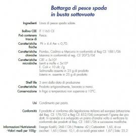 bottarga di pesce spada trance 170 g Campisi Conserve - 2