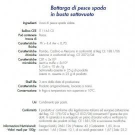 Trance Schwertfisch bottarga 170 g Campisi Conserve - 2
