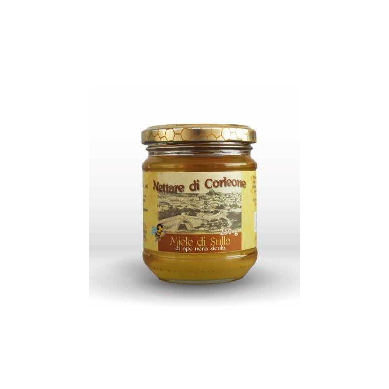 Honig auf der schwarzen Biene Corleone sicula 250 g Comajanni Giuseppe - 1