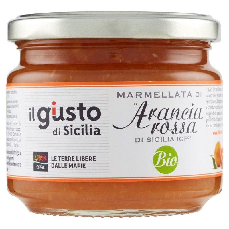 organic blood orange marmelade 270 g Libera Terra - 1