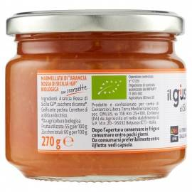 органическое красное оранжевое варенье 270 г Libera Terra - 3