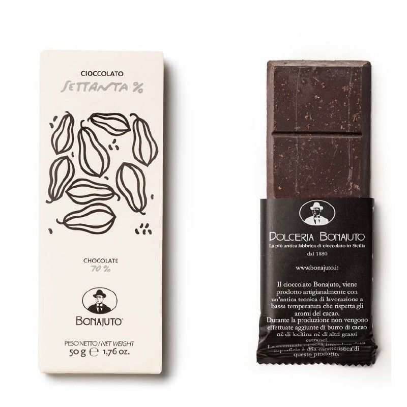 chocolate puro 70% 50 g - Bonajuto Bonajuto - 1
