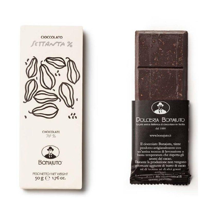 reine Schokolade 70% 50 g - Bonajuto Bonajuto - 1