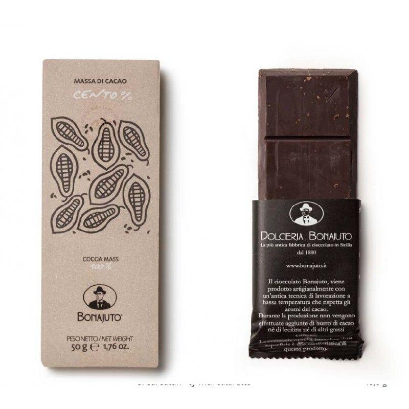 chocolat 100% cacao 50 g - Bonajuto Bonajuto - 1