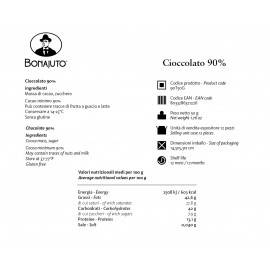 reine Schokolade 90% 50 g - Bonajuto Bonajuto - 2
