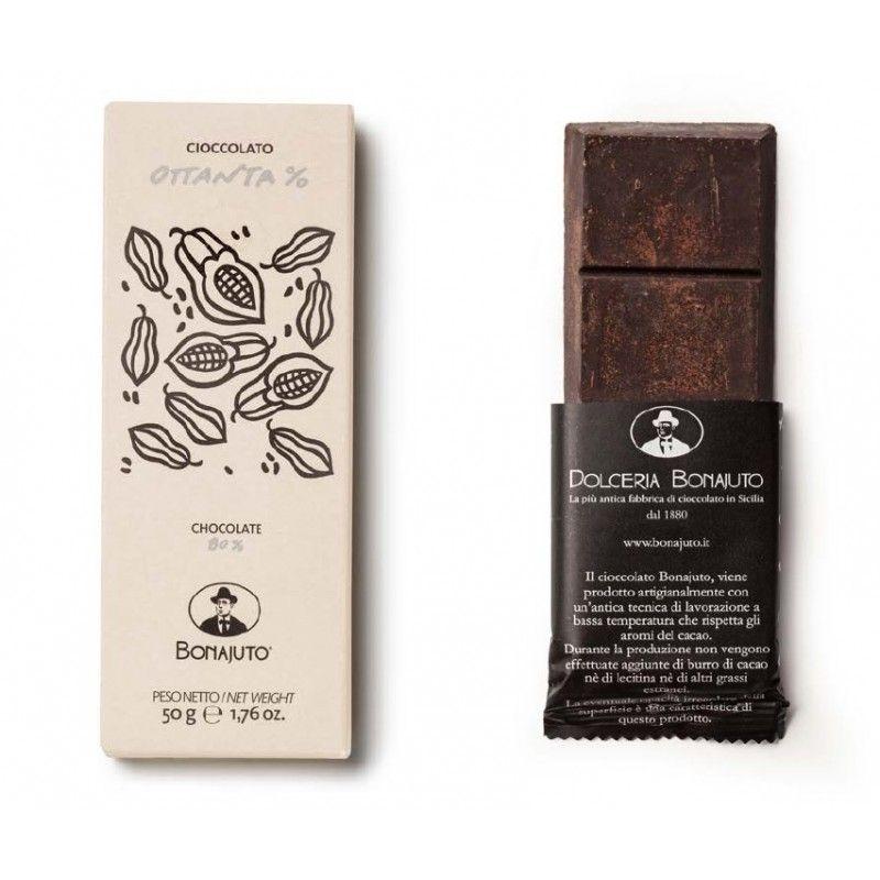 чистый шоколад 80% 50 г - Bonajuto Bonajuto - 1