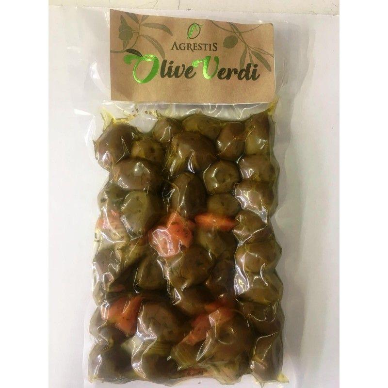 Sizilianische grüne Oliven von buccheri 300 G Agrestis - 1