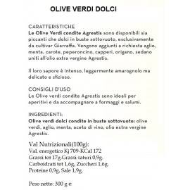 Agrestis Sicilian Green Olives 300 G Agrestis - 2